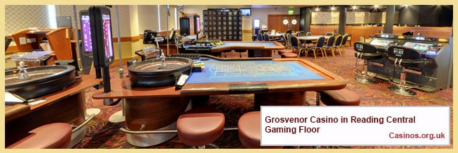 Grosvenor Casino in Reading Central Gaming Floor