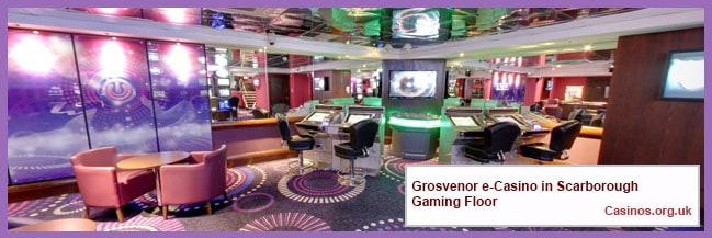 Grosvenor e-Casino in Scarborough Gaming Floor