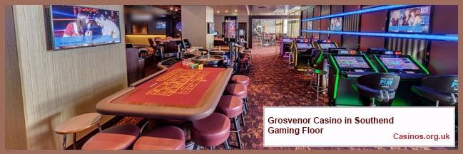 Grosvenor Casino in Southend Gaming Floor