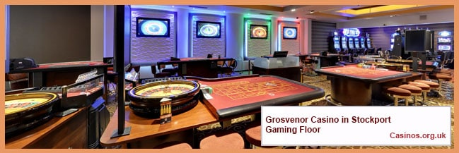 Grosvenor Casino in Stockport Gaming Floor