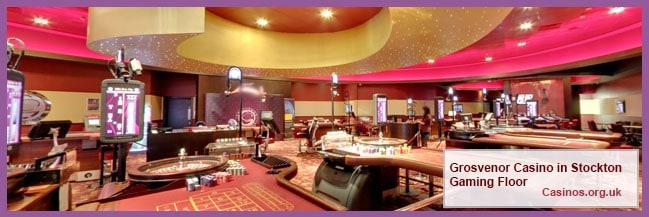 Grosvenor Casino in Stockton Gaming Floor