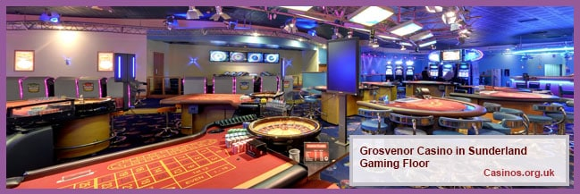 Grosvenor Casino in Sunderland Gaming Floor