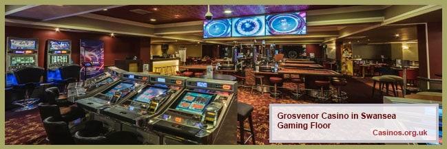 Grosvenor Casino in Swansea Gaming Floor