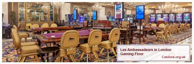 Les Ambassadeurs London Gaming Floor