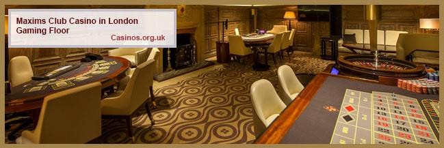 Maxims Club Casino in London Gaming Floor