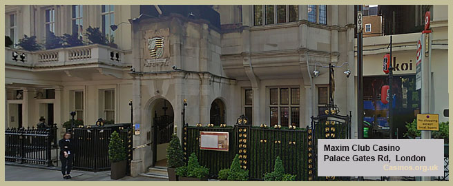 Maxims Club Casino in London Outdoor View