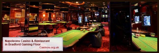 Napoleons Casino & Restaurant in Bradford Gaming Floor