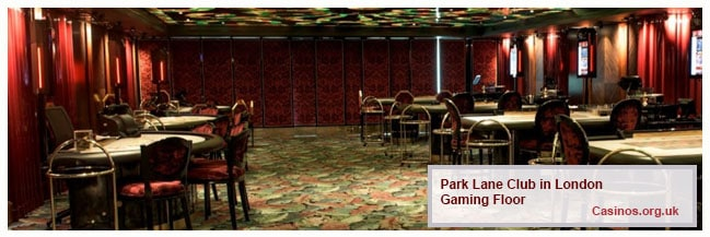 Park Lane Club London Gaming Floor