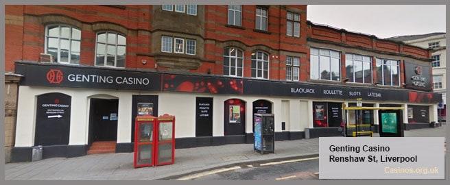 Genting Casino Renshaw Street in Liverpool Outdoor View