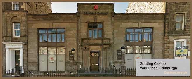 Genting Casino – York Place in Edinburgh Outdoor View