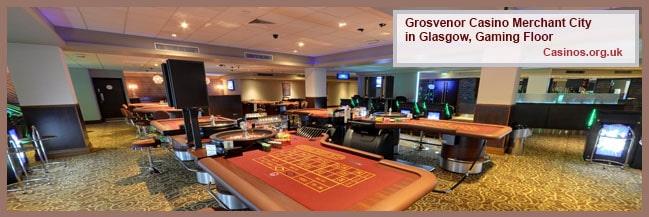 Grosvenor Casino Merchant City in Glasgow Gaming Floor