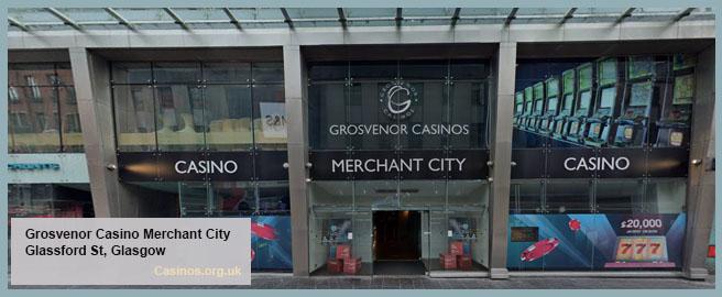 Grosvenor Casino Merchant City in Glasgow Outdoor View