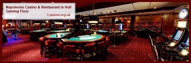 Napoleons Casino & Restaurant in Hull Gaming Floor