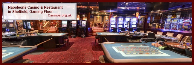 Napoleons Casino & Restaurant in Sheffield Gaming Floor