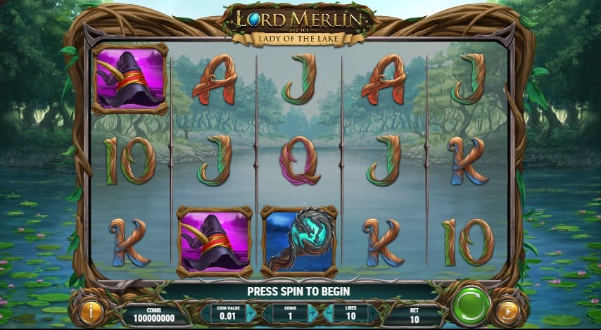 Lord Merlin and the Lady of the Lake Slot Machine - Free Play & Review 2