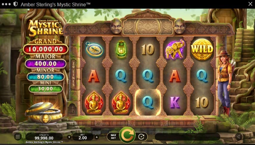 Amber Sterling's Mystic Shrine Slot Machine - Free Play & Review 1