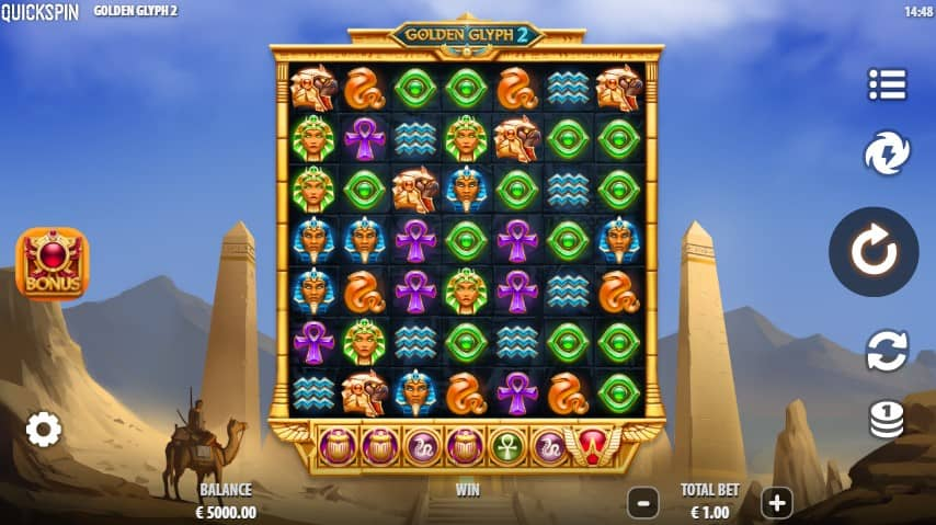 Golden Glyph 2 Slot Machine - Free Play & Review 1