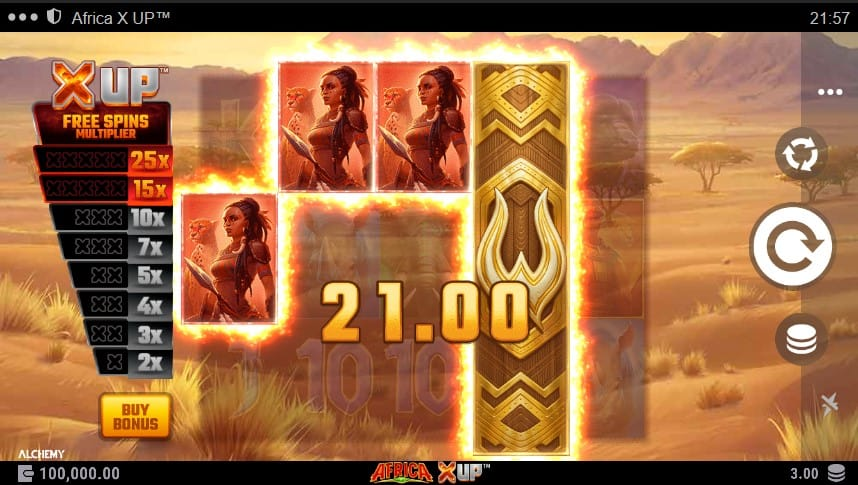 Africa X Up Slot Machine - Free Play & Review 3