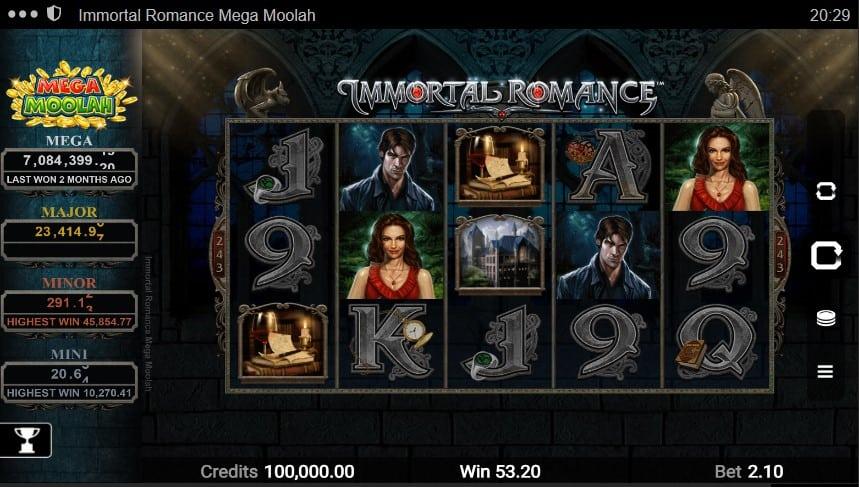 Immortal Romance Mega Moolah Slot Machine - Free Play & Review 2