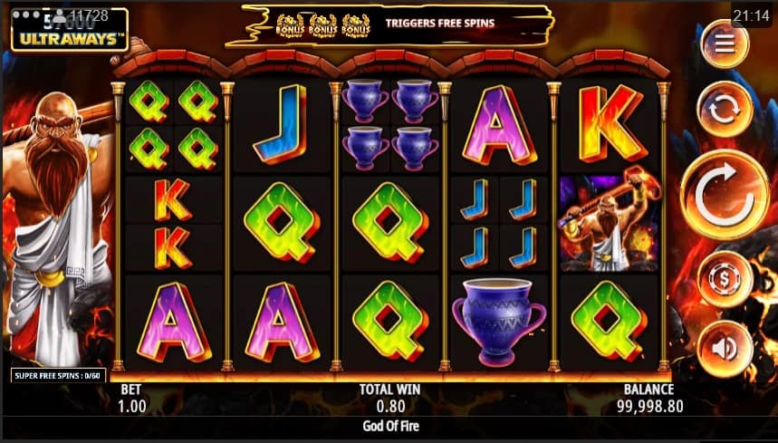 God of Fire Slot Machine - Free Play & Review 1