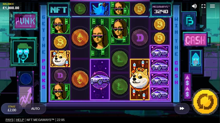 NFT Megaways Slot Machine - Free Play & Review 3